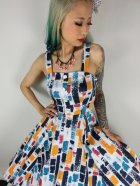 他の写真2: ☆H&R☆Rainbow Paint Stroke Swing Dress 11号