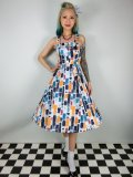 ☆H&R☆Rainbow Paint Stroke Swing Dress 11号