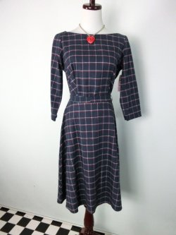 画像1: ☆Heart of Haute☆ Mitzi Dress  Windowpane Flannell (M)11号