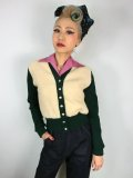 ☆Freddies of Pinewood☆1940s Cardigan Green  (XL)13号