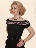 Vivien of Holloway Gypsy Top Black/Pink Trim SizeL(11号)