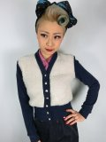 ☆Freddies of Pinewood☆1940s Cardigan Blue  (XL)13号