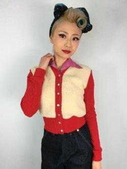 画像2: ☆Freddies of Pinewood☆1940s Cardigan Red (XL)15号