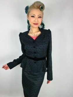 画像2: ☆Collectif☆DIANA CHAISE CHECK BLAZER 11号