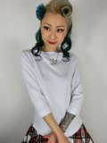 Vivien of Holloway Slash Neck Top White SizeL(13号)