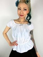 他の写真1: Vivien of Holloway Gypsy Top White SizeM(9号)