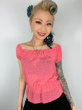 Vivien of Holloway Gypsy Top Coral Dot Chiffon SizeS(7号)