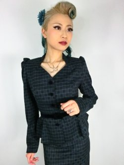 画像1: ☆Collectif☆DIANA CHAISE CHECK BLAZER 11号