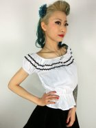 他の写真2: Vivien of Holloway Gypsy Top White/Black Trim SizeXL(13号)