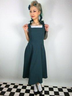 画像1: ☆Collectif☆ GERTRUDE 40S PLAIN OVERALLS DRESS Teal 15号