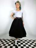 ☆Collectif☆ROSIE QUILTED VELVET SWING SKIRT 11号