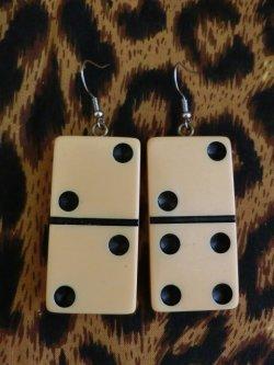 画像1: Domino ピアス クリーム(2)