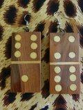 Dominoピアス  Wood クリームペイント(1)