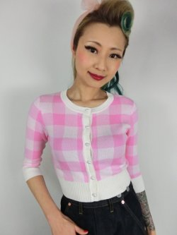 画像1: ☆Collectif☆LUCY GINGHAM CARDIGAN Pink 15号