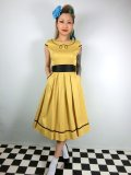 ☆Lindy Bop☆Bethany Mustard Swing Dress 9号