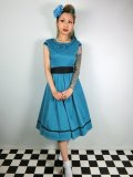 ☆Lindy Bop☆Bethany Teal Swing Dress 9号