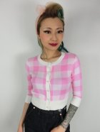 他の写真1: ☆Collectif☆LUCY GINGHAM CARDIGAN Pink 15号