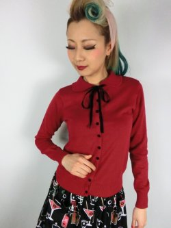 画像2: ☆Collectif☆ANDI LONGLINE CARDIGAN Red 11号