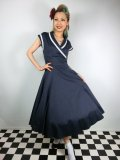 ☆Collectif☆ YOSHIMA SWING DRESS  Navy 7号