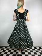 他の写真3: ☆Collectif☆Mary Polka Dot Flock Swing Skirt Green 13号