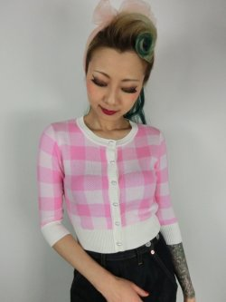 画像2: ☆Collectif☆LUCY GINGHAM CARDIGAN Pink 15号