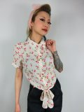 ☆Collectif☆SAMMY CHERRY TIE BLOUSE 13号