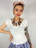 ☆Collectif☆BEBE PLAIN GYPSY TOP  White 13号