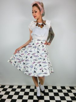 画像2: ☆Collectif☆TAMMY 50S CAR SKIRT  7号