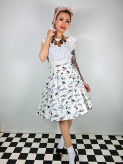 画像1: ☆Collectif☆TAMMY 50S CAR SKIRT  7号