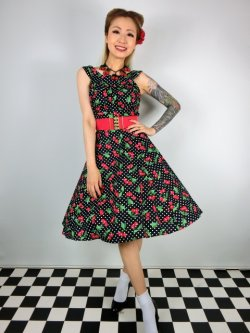 画像1: ☆Heart of Haute☆Amanda Dress-CherryDot (S)9号