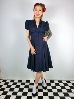画像2: ☆Heart of Haute☆Manhattan Dress - Navy (S)9号