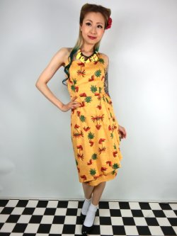 画像1: ☆Collectif☆LEELU PINEAPPLE & PALM SARONG DRESS 13号