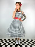 ☆Collectif ☆CHLOE GINGHAM SWING DRESS Black 17号