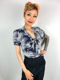 ☆Collectif☆ TURA PALM PRINT BLOUSE 7号