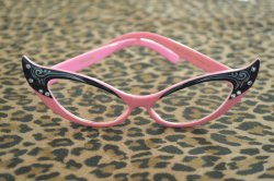 画像2: Vintage Style Glasses - Pink and Black
