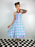 ☆Collectif ☆CHLOE CANDY GINGHAM SWING DRESS 13号