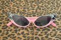 Vintage Style Shades - Pink and Black