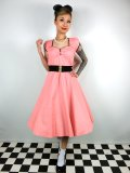 ☆Lindy Bop☆Bella Peach Swing Dress 13号