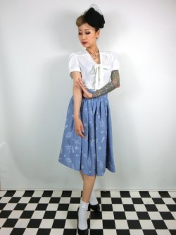 画像2: ☆Collectif☆ JASMINE SEASHELL DENIM SKIRT  15号