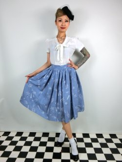 画像1: ☆Collectif☆ JASMINE SEASHELL DENIM SKIRT  13号