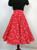 ☆Heart of Haute☆Circle Skirt - Music Notes Red (S)11号