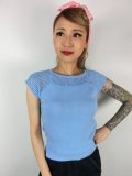☆Collectif☆CLAIRE KNITTED TOP Antique Bluebell 17号