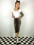☆HELL BUNNY☆Panthera Pencil Skirt Leopard(S)11号