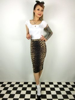 画像1: ☆HELL BUNNY☆Panthera Pencil Skirt Leopard(S)11号