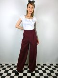☆HELL BUNNY☆Hubertine Trousers Burgundy 15号