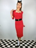 ☆Collectif☆VANESSA PENCIL DRESS Red 9号