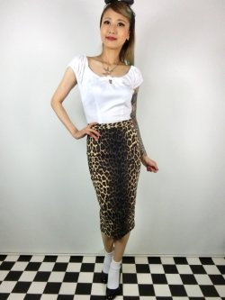 画像2: ☆HELL BUNNY☆Panthera Pencil Skirt Leopard(S)11号
