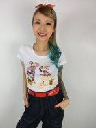 他の写真1: チェリハニプリント☆HarlequinTシャツ White  Size M