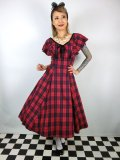 ☆Collectif☆ARABELLA ETTRICK CHECK SWING DRESS Red 9号