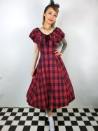 他の写真1: ☆Collectif☆ARABELLA ETTRICK CHECK SWING DRESS Red 15号